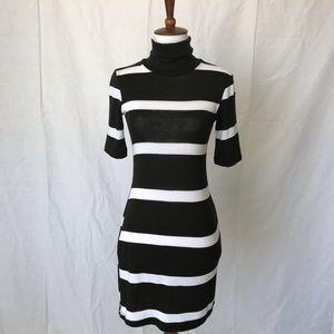 Chris & Carol Black White Sweater a Dress XS